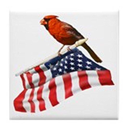 CafePress-USA Cardinal-Tile Untersetzer, Drink Untersetzer, Untersetzer, Klein -