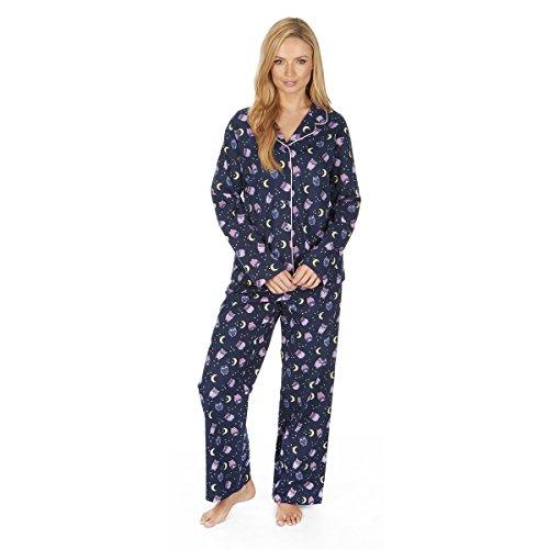 Forever Dreaming Ladies 100% Brushed Cotton Pyjamas   Sizes S-XL   Long Sleeve PJ Set