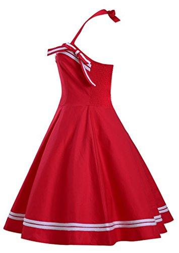 Eyekepper Robe de coctail Robe courte Femme / demoiselle - robes style elegante vintage Rouge