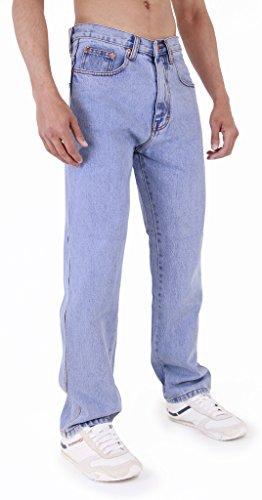 Herren Azteken Schwerlast einfach gerades Bein reguläre Passform Jeans von Aztec Jeans Helle Waschung