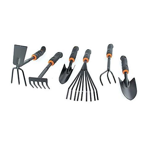 6X à main outils de jardin Accessoires inclus Large étroit Pelle Digger dents Râteau à fleurs Houe Cultivateur
