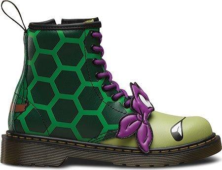 Dr.Martens Kids Donnie 1460 8 Eyelet Zip Leather Boots Vert