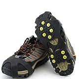 ulofpc Antideslizante Cubierta para Zapatos Ice Snow Grips Calzado Botas Tracción Caza Clavos de Goma Antideslizante Montañismo