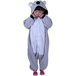 DarkCom Día de los Niños Trajes Kigurumi Enterizo Animal Cosplay Traje Lindo Traje Gris Koala