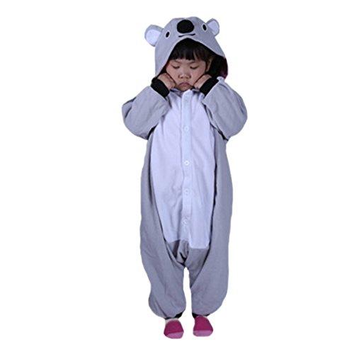 DarkCom Children ' s Day Kostüme Kigurumi Strampelanzug Tier Cosplay Jumpsuit Cute Outfit Grau (Kid Kostüm Koala)