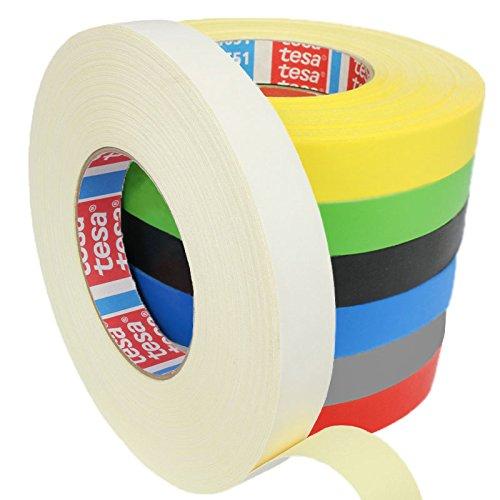 Tesa 4651 Premium Gewebeband verschiedene Breiten und Farben wählbar / weiß 12 mm x 50 m