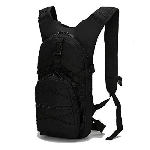 Camouflage idratazione multifunzione Outdoor pacchetto alpinismo borse tattico militare Zaino Zaino da Ciclismo, Black Black