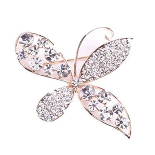 TREESTAR Brosche für Frauen Mädchen Korsage Schmetterling Metall & Strass Brosche für Hut Handtasche Schuhe Stirnband Kleidung Zubehör 6 x 4,8 cm