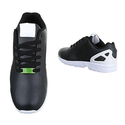 Ital-Design , Baskets pour homme noir/blanc