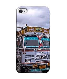 Fuson Designer Back Case Cover for Apple iPhone 5S (Truck Mountain Roads Tough Sturdy )