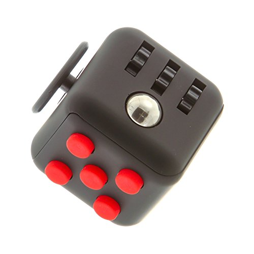 Be Squared De-Stress Ball and Anxiety Cube – Sensory Toy for Adults and Children (Black/Red)