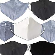 Mediweave Reusable Unisex, Wave design, Stylish, 3 layer Cotton Cloth Face Mask, Mix Color (7 Pieces- Color ma