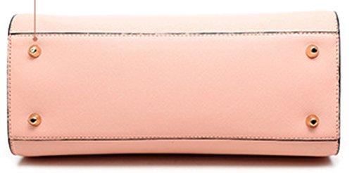 Longzibog Dual verstellbare Schultergurte und Hängeschlaufenband 2016 Neue Simple Style Fashion Tote Top Handle Schulter Umhängetasche Satchel Saphirblau