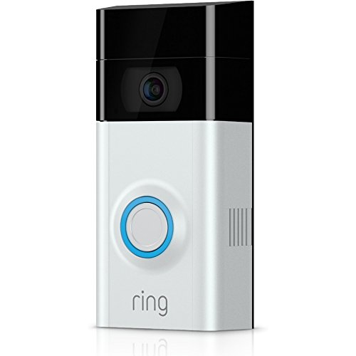 Ring Video Doorbell 2 - 1080p HD video, two-way talk, motion detection, wifi-connected, Satin Nickel