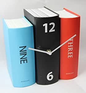 New Book Shape Big Time Creative Number Design Student Clock Home Decor (2#)