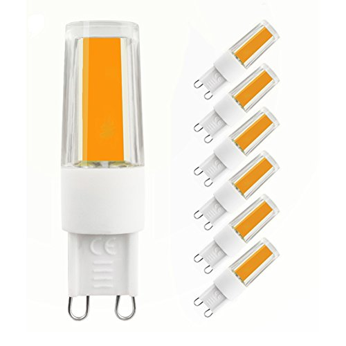 LAKES G9 LED Lampe, 3W (35W Halogenlampe), 270LM, 3000K Warmweiß, LED Birnen, LED Leuchtmittel, Energiesparlampen, 6er-Pack