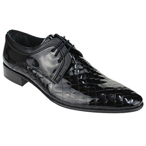 Lace Smart arbeit büro comfort schwarz kleid Schwarz Leder Up formale größe Herren schuh Aarz SU5qII