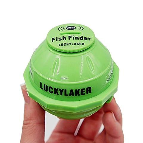Lucky FF916 WIFI sans fil détecteur de poissons 50M / 130ft sonde de pêche profondeur d'alarme pour iPhone iPad Android