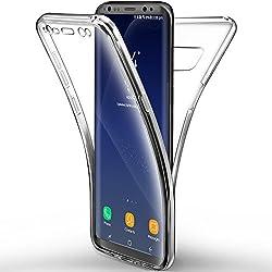 Leathlux Custodia full body Samsung Galaxy S8, Protezione , Morbido TPU Case Cover Ultra Sottile, Resistente Ai Graffi - Silicone Transparente