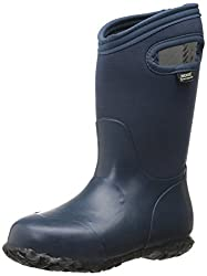 Bogs Durham Solid All Weather Rain Boot (Infant/Toddler/Little Kid/Big Kid), Navy,10 M US Little Kid