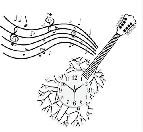 Csxg orologi da parete chitarra creativa, stanza d'arte di ferro, orologio, fash