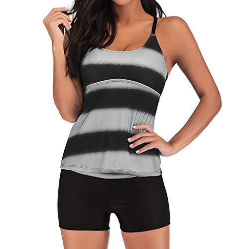tuschen Bikini Badeanzug Kleid Frauen Plus Size Gradient Tankini Bikini Bademode Badeanzug Badeanzug ()