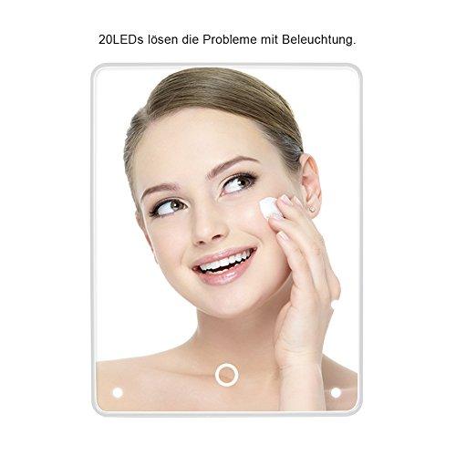 Wawoo Make-up-Spiegel, LED Beleuchtung, Dimmbar durch Touch-Schalter - 7
