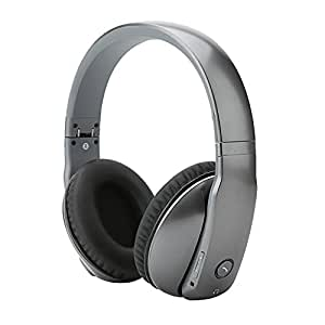 AncStudio Bluetooth 4.0 Headphones, Wireless Stereo Headsets Earphones with Active Noise Reduction Cancelling, Built in Mic Hands Free Calling, 3.5mm Audio Input, NFC, APTX, Comfortable(Metal Grey)