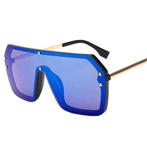 Loving Bird Liebevoller Vogel Übergroße Sonnenbrille Frauen Schwarz Big Summer Square Sonnenbrille Männer Einteilige Klare Linse Rot Schwarz Spiegel Sonnenbrille 2019 UV400, Farbe 8