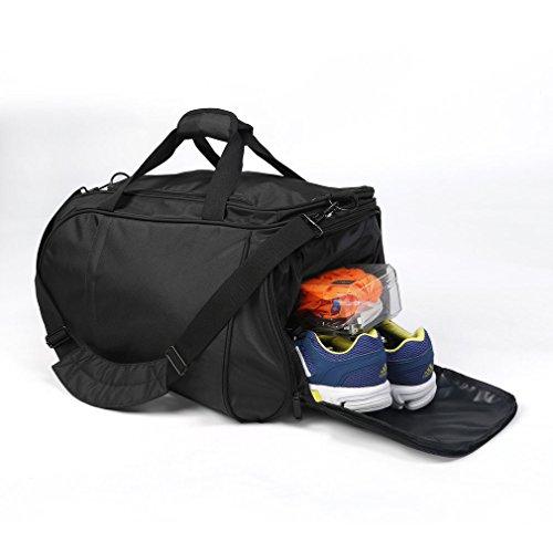 Tragbare Sport Gym Fitness Bag Travel Duffel Große Tragetasche Gepäck Tasche Schwarz