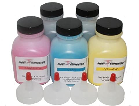 SOL Corp (Non-OEM) REFILL KIT for use in Canon 118 Toner Cartridges Combo - 5pk (2BK + CMY) for imageCLASS MF8330, MF8350cdn, MF8380CDW, LBP-7200cdn, LBP7200cdn, LBP7660cdn, LBP8380cdw Series - with Reset Chips by SOL