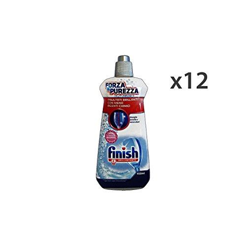 FINISH Set Kit Geschirrspüler 12 Spülen Force & Purity 450 Ml. Geschirrspülmaschinen-Reiniger