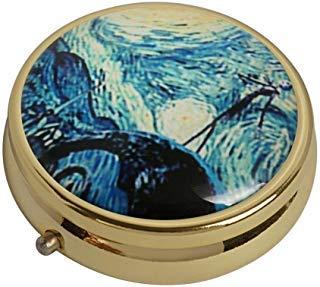 XingBoo The Nightmare Before Christmas Jack Custom New Hot Round Medizin-Tablet-Tasche Travel Gold Pillendose Vitamin-Glas Deko Box