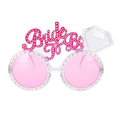 Lumanuby Rosa Sonnenbrille sortiert Styles 'Bride to be' Sunglasses Hen party Braut Brille Hochzeit Kleider Brautschmuck Zubehör