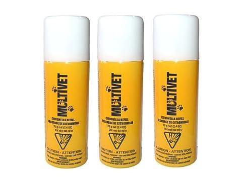 3 x Multivet Spray Zitro 60 ml zum Sonderpreis ! Auch für Dynavet und Petsafe Produkte geeignet. (Petsafe Refill)
