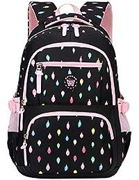 c706642f4d854 FLHT Mädchen Kinder Schultasche Rucksack Wasserdicht Und Leicht 8-12 Jahre  Alt Große Kapazität 3-6 Klasse Grundschüler…