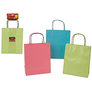 ALANNAHS ACCESSORIES 3 Pack Medium Gift Bags Pastel Colours Pink Green Blue