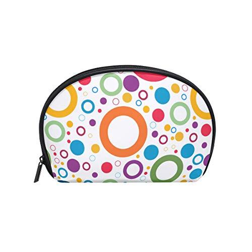 Frauen Wallpaper (Twill Make-up Bag Small Shell Form Kulturbeutel Reisespeicher für Frauen Wallpaper)