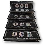 OCB Black Premium 1 1/4 Rolling Papers Pack Of 5 Booklets From SUDESH ENTERPRISES