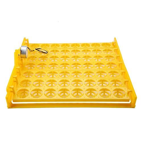 56 Eier Inkubator Vollautomatisch Digitaler Hühnerei Inkubator Hatcher Inkubator Automatische Eier Platte Eierdrehen Eierdrehwerkzeug Eier Turner Tray Inkubation Zubehör (220V Motor) -
