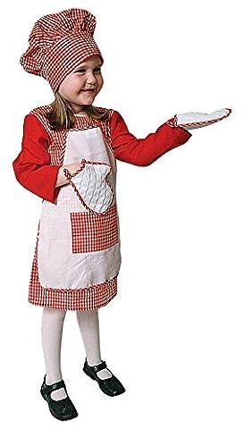 Dress Up America - 210-T - Déguisement de grand chef cuisinier - Enfant4 ans - taille 92-99cm -
