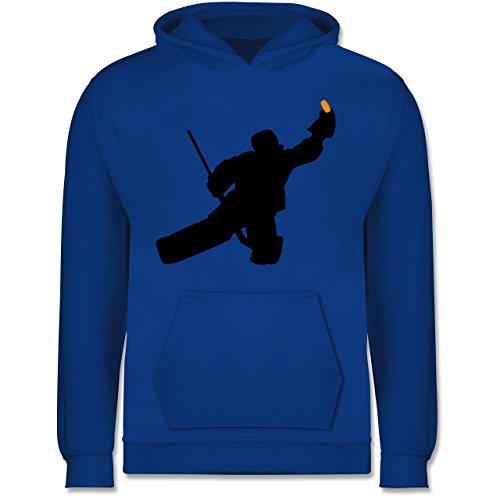 Sport Kind - Towart Eishockey Eishockeytorwart - 12-13 Jahre (152) - Royalblau - JH001K - Kinder Hoodie