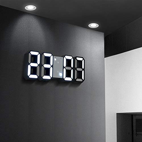 3D LED Digital Wecker Nachtlicht Elektronische Uhr Wanduhr Snooze Desktop Tischuhr Temperaturanzeige Wohnkultur