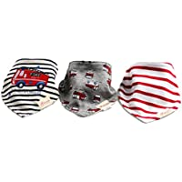 Lace Kenzola 3-pc Baby Bus Drooler Bibs Scarf Set for