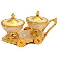 TUZECH - Carrito de comedor chapado en oro