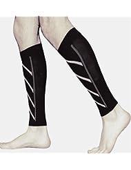 1 paire de jambe mollet manches de compression, de circulation et jambe Cramp Compression manchon de soutien - Running, jogging, vélo
