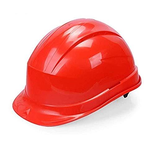WYNZYSLBD Bauhelm for Schutzhelme , Arbeitshelm Mit Belüftetem 6-Punkt-Auffanggurt Bauarbeiterhelm Mit Belüftung (Color : Red)