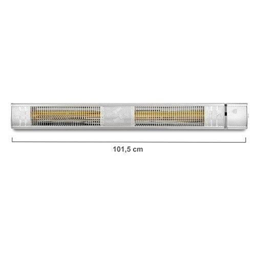 blumfeldt Gold Bar 3000 • Infrarot-Heizstrahler • Wand-und-Decken-Heizstrahler • 1000-3000 W • 3 Wärmestufen • IP65 Schutzart • gezielte Wärmeabgabe • blendungsfreie Wärme • Fernbedienung • Aluminium - 3
