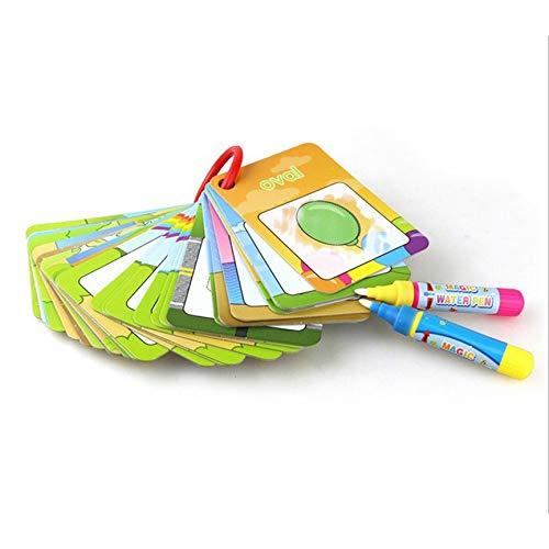 Malerei Board (Peanutaod Wasser Zeichnung Karte Malbuch mit 2 magischen Stiften Brief Nummer Karte kognitive Malerei Board Lernspielzeug für Kinder)