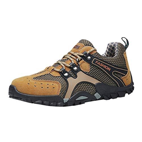 LILIHOT Herren Casual Sneakers rutschfeste Abriebfeste Reiseschuhe Mesh Wanderschuhe Laufschuhe StraßEnlaufschuhe Sportschuhe Turnschuhe Outdoor Leichtgewichts Freizeit Atmungsaktive Schuhe